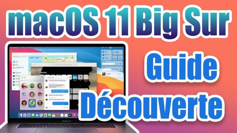 Read more about the article Découvrir MacOS 11 Big Sur