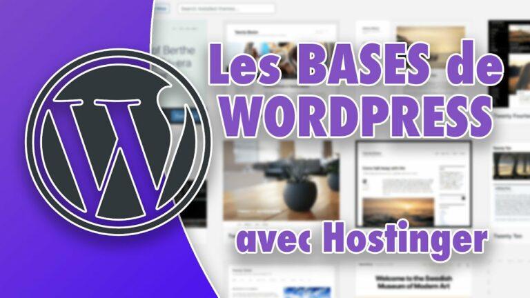 Read more about the article Tutoriel WordPress pour débutant : les bases